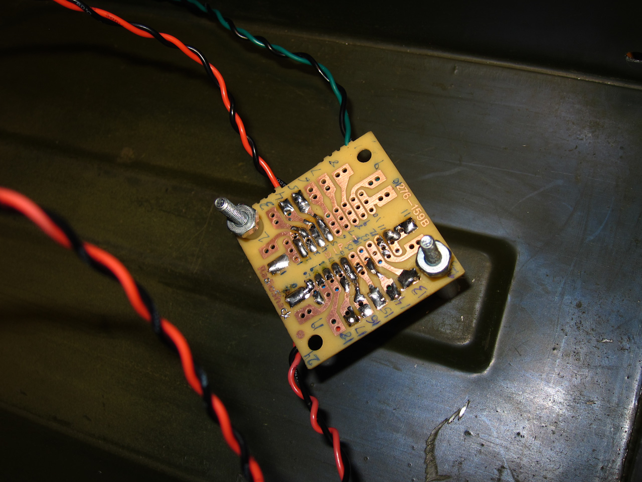 Ammo Can Speaker Circuit Board On Vintage Cigar Box Cutting The Mounted Inside