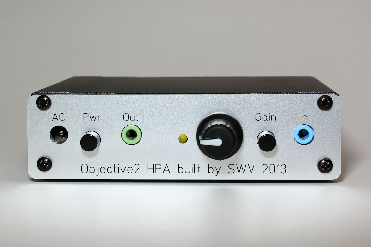Objective2 Headphone Amp Cmoy Amplifier Front View